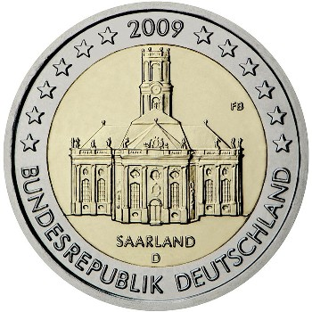 Germany – 2 Euro, Federal state of Saarland, 2009