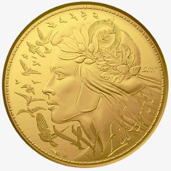 France - 250 Euro d'or, Marianne, 2017