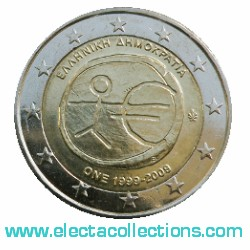 Greece – 2 Euro, 10th Anniversary of the Euro, 2009