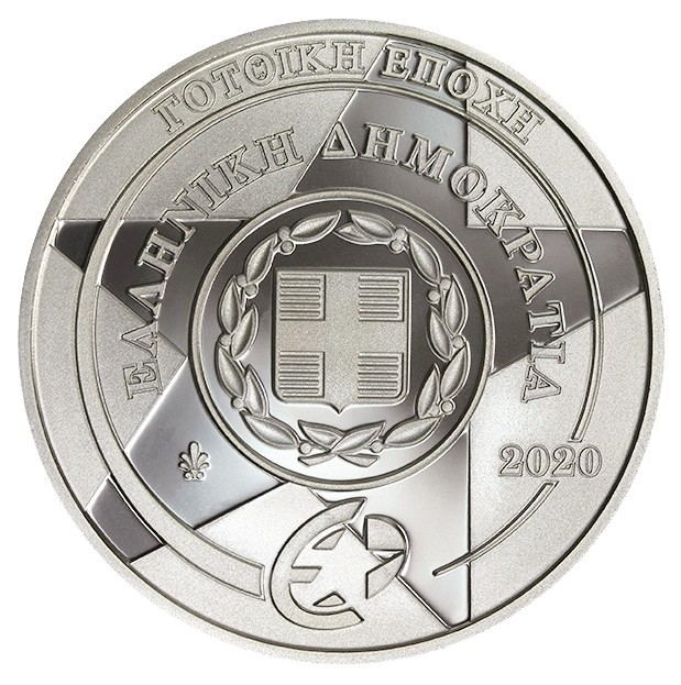 Grece - 10 Euro Argent BE, EUROPA STAR, GOTHIC, 2020