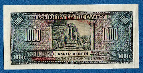 Grece - 1000 Drachmas, National Bank, 1926