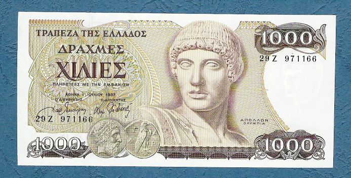 Greece - 1000 Drachmas 1987
