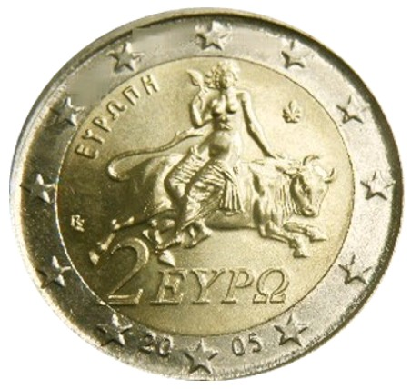 Greece - 2 Euro, Europa 2005 (unc in capsule)