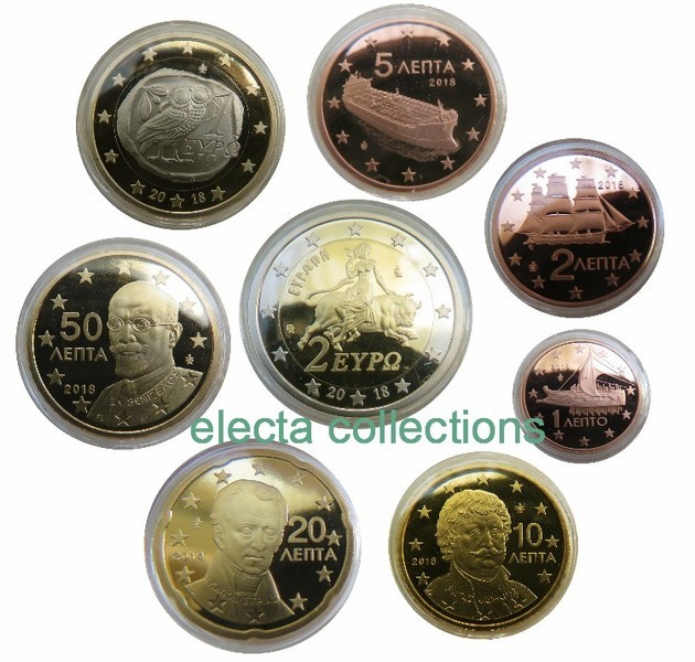 Greece - Complete Set PROOF 2018 (8 coins)