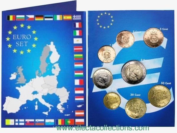 Latvia - Euro Coins, Complete UNC set 2014