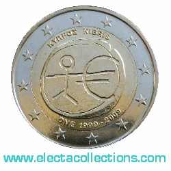 Cyprus – 2 Euro, 10th Anniversary of the Euro, 2009