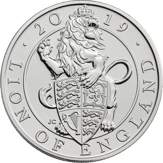 Great Britain - 5 pounds, Lion of England, 2019 (BU in blister)