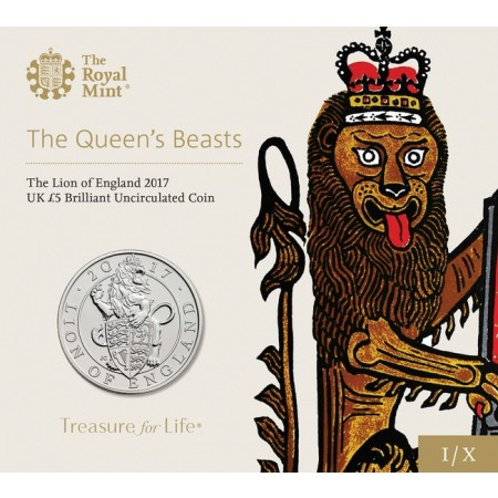 Großbritannien - 5 pounds, Lion of England, 2017 (BU)