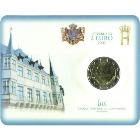 Lussemburgo - 2 Euro, Palazzo Ducale, 2007 (coin card)