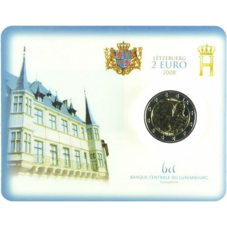Lussemburgo - 2 Euro, chateau de Berg, 2008 (coin card)