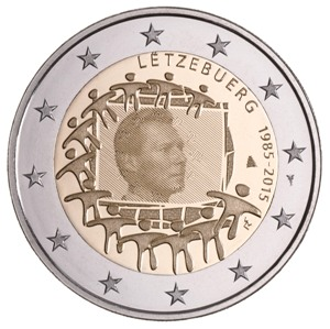Luxemburg – 2 Euro, European Flag, 2015 (unc)