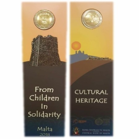 Malta - 2 Euro, CULTURAL HERITAGE, 2018 (coin card MdP)