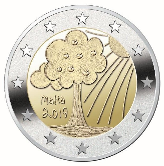 Malta – 2 Euro, Nature and environment, 2019 (coin rolls)
