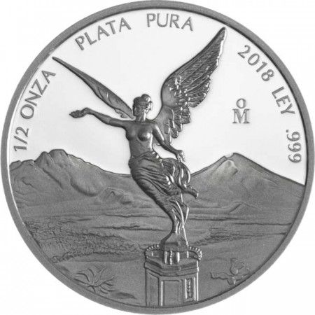 Mexico - Silver coin 1/2 oz, Libertad, 2018 (PROOF)