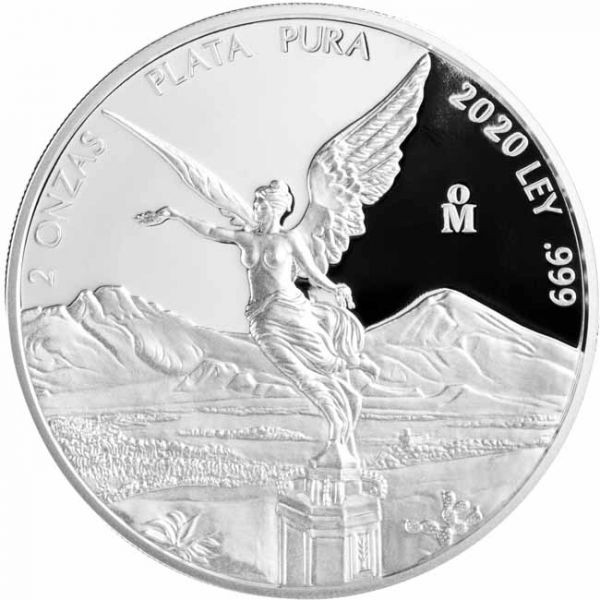 Mexico - Silver coin 2 oz, Libertad, 2020 (PROOF)