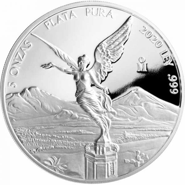 Mexiko - Silver coin 5 oz, Libertad, 2020 (PROOF)