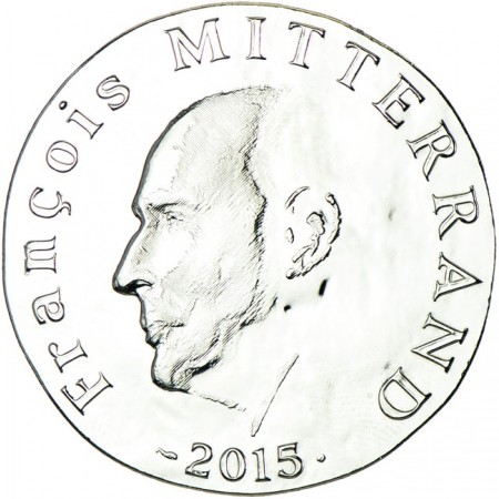 France - 10 Euro silver, François Mitterrand, 2015
