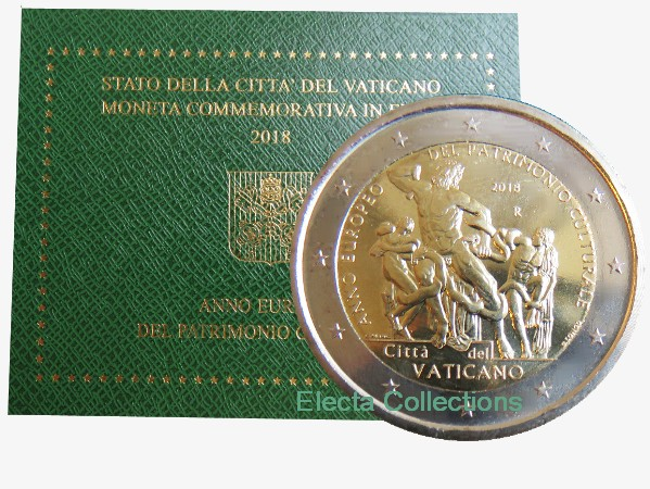 Vatican - 2 Euro, Cultural Heritage, 2018 (blister)