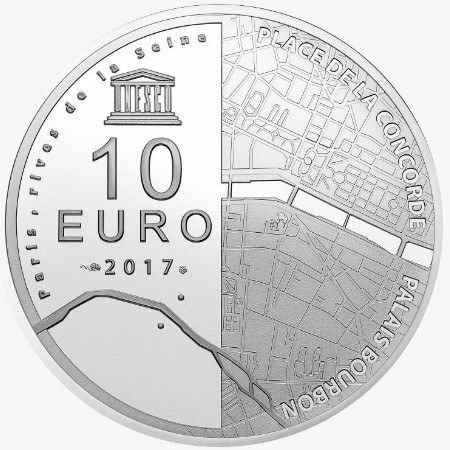 France - 10 Euro Ag BE, Place de la Concorde, 2017
