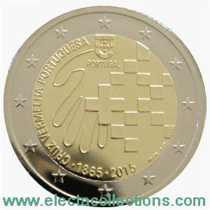 Portugal – 2 Euro UNC, Red Cross, 2015