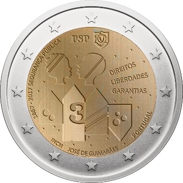 Portugal – 2 Euro, Police and Public Security, 2017