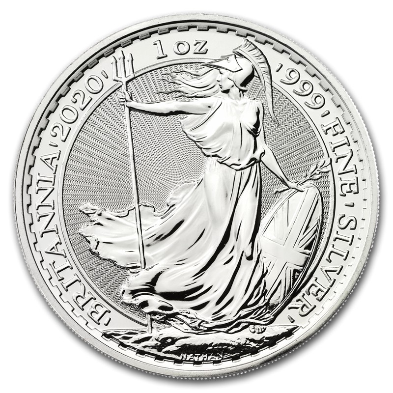 Μεγάλη Βρεταννία - £2 Britannia One Ounce Silver Bullion, 2020
