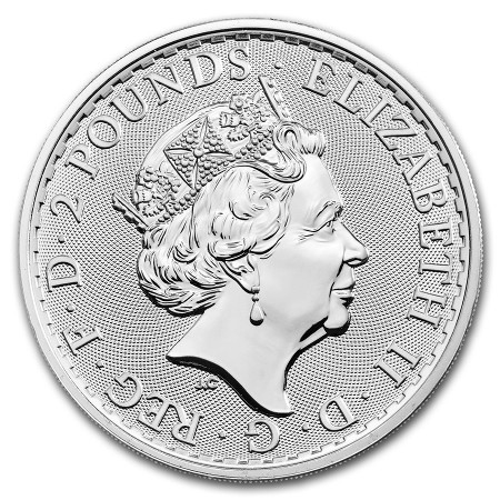 Royaume Uni - £2 Britannia One Ounce Silver Bullion, 2019