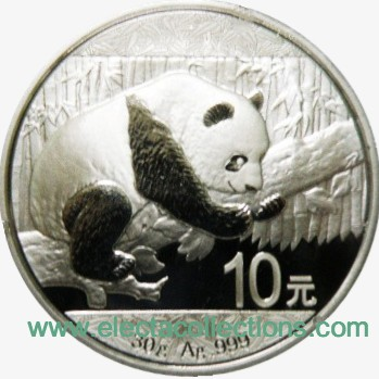 China – Silbermunze BU 30g, Panda, 2016