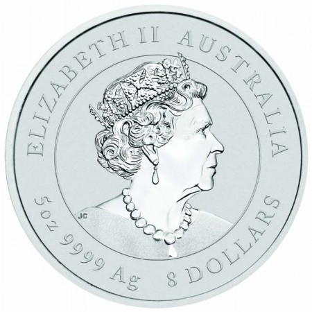 Australia - Silver coin BU 5 oz, Year of the Mouse, 2020