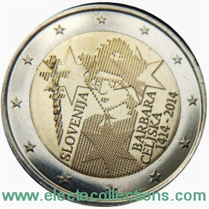 Slovenia – 2 Euro, Coronation of Barbara of Celje, 2014