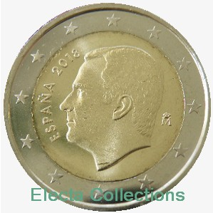 Espagne - 2 Euro, New King Felipe VI, 2018 (BU in capsule)