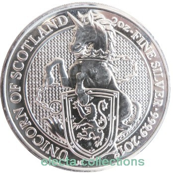 Great Britain - Unicorn of Scotland, silver 2 oz, 2018