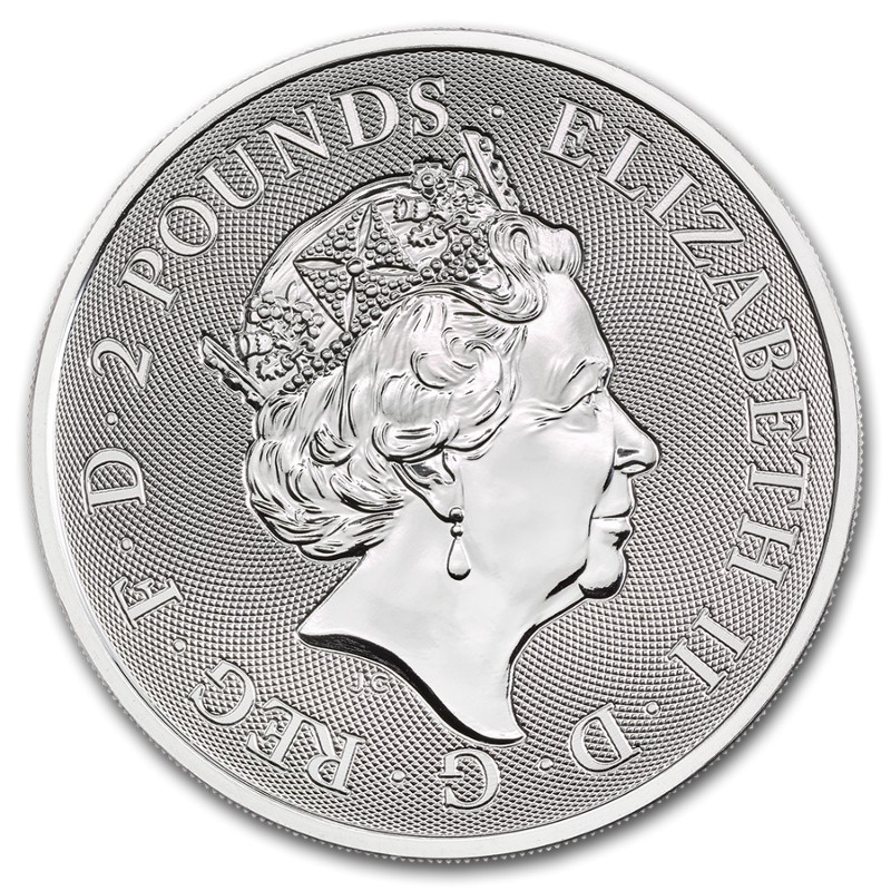 Royaume Uni - £2 Valiant One Ounce Silver Bullion, 2019