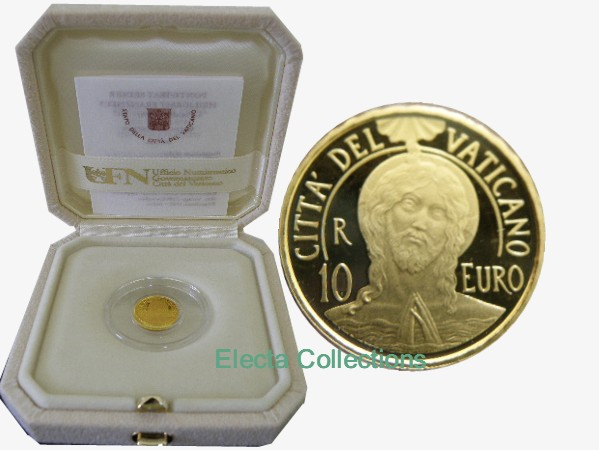 Vatican - 10 Euro Or BE, Le Bapteme, 2017
