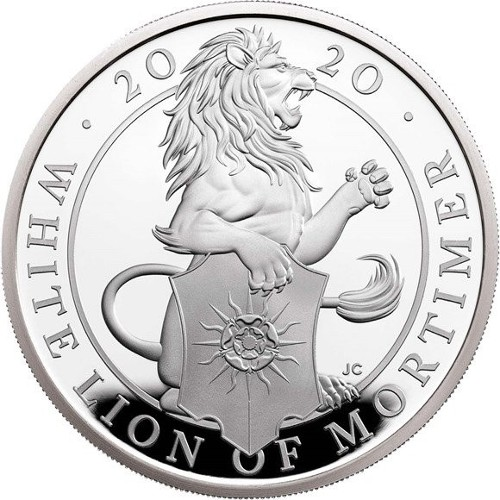 Great Britain - 1 oz silver proof, Lion of Mortimer, 2020